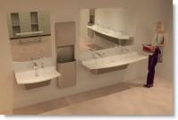 Bradley Revit Verge VDL 1-2-3 Station Lavatory Sink Families - Toilet - Locker Room Design
