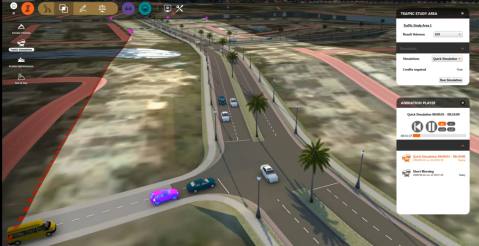 Traffic simulation module in Infraworks 360