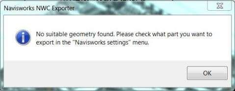 No Suitable Geometry Found Error